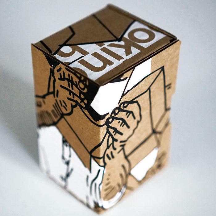 Detalle de la caja realizada por El Manchas para el proyecto Creative Honey de Miel de la Marquesa